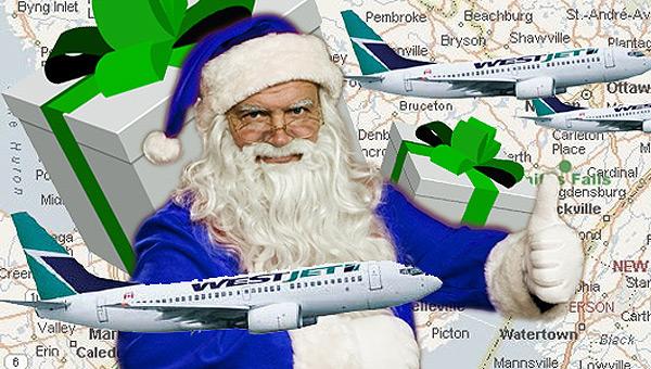 Рождественское чудо от компании «WestJet»